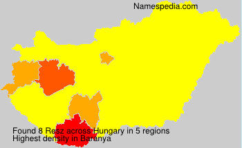 Surname Resz in Hungary
