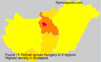 Surname Rethati in Hungary