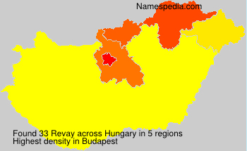 Surname Revay in Hungary