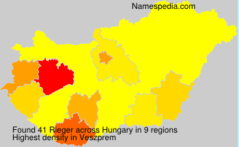 Surname Rieger in Hungary