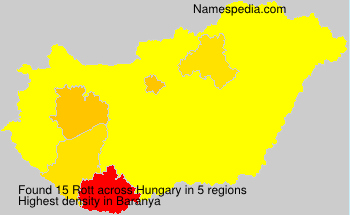 Surname Rott in Hungary