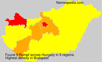 Surname Rumpf in Hungary