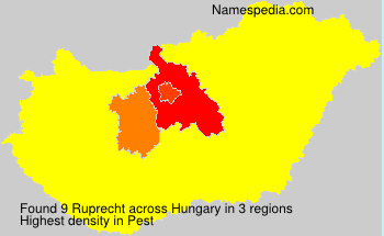 Surname Ruprecht in Hungary