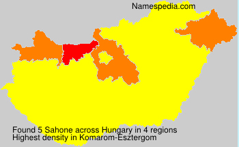 Surname Sahone in Hungary