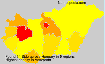 Surname Sido in Hungary