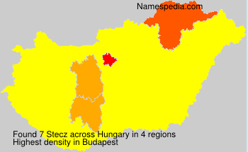 Surname Stecz in Hungary