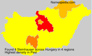 Surname Steinhauser in Hungary