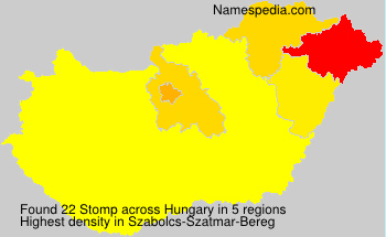 Surname Stomp in Hungary