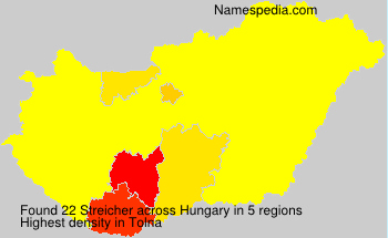 Surname Streicher in Hungary