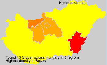 Surname Stuber in Hungary