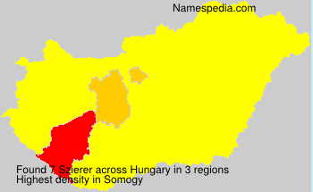 Surname Szierer in Hungary