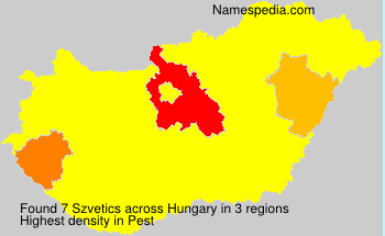 Surname Szvetics in Hungary