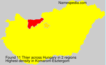 Surname Thier in Hungary