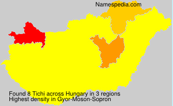 Surname Tichi in Hungary