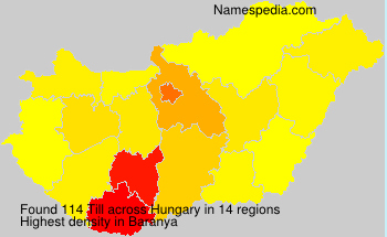 Surname Till in Hungary