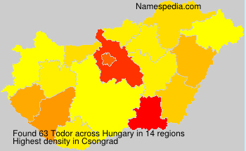 Surname Todor in Hungary