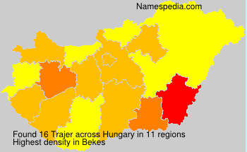 Surname Trajer in Hungary