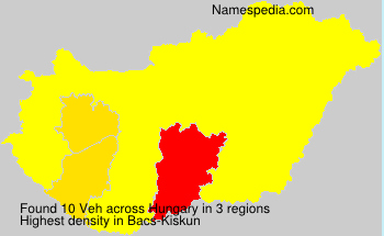 Surname Veh in Hungary
