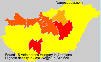 Surname Velo in Hungary