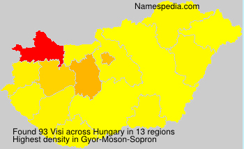 Surname Visi in Hungary