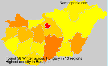 Surname Winter in Hungary