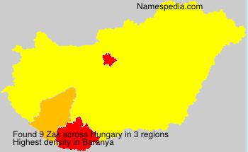 Surname Zak in Hungary