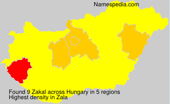 Surname Zakal in Hungary