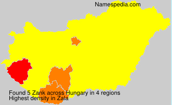 Surname Zank in Hungary