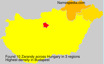 Surname Zarandy in Hungary