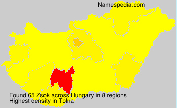 Surname Zsok in Hungary