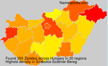Surname Zsoldos in Hungary