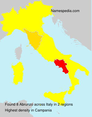 Surname Abrunzo in Italy