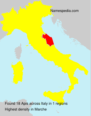 Surname Apis in Italy