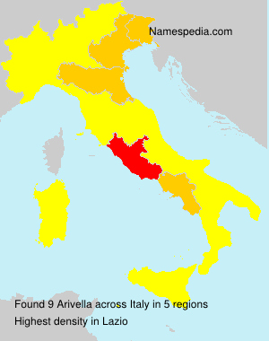 Surname Arivella in Italy