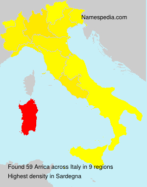 Surname Arrica in Italy