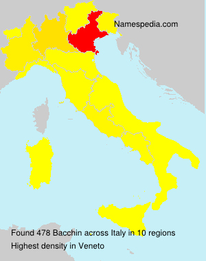 Surname Bacchin in Italy