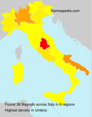 Surname Bagnolo in Italy