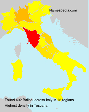 Surname Balloni in Italy