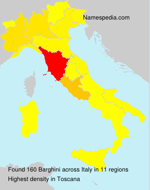 Surname Barghini in Italy