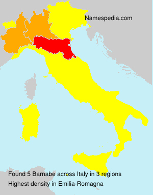 Surname Barnabe in Italy