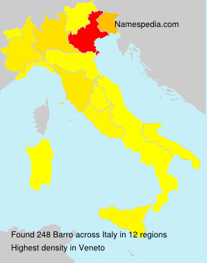 Surname Barro in Italy