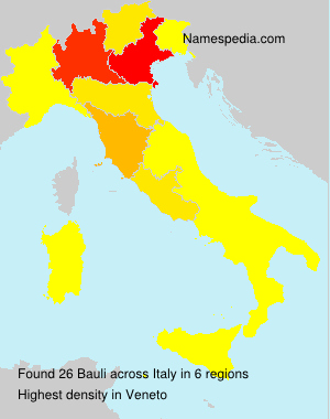 Surname Bauli in Italy