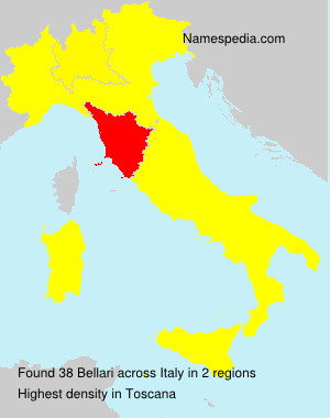 Surname Bellari in Italy