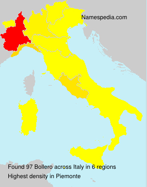 Surname Bollero in Italy