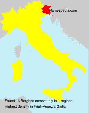 Surname Borghes in Italy