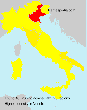 Surname Brunino in Italy