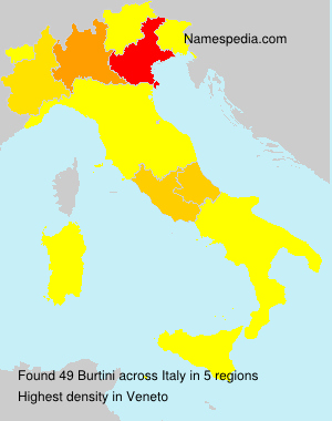Surname Burtini in Italy