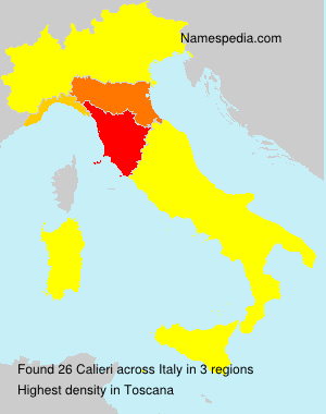 Surname Calieri in Italy