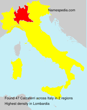 Surname Calzaferri in Italy