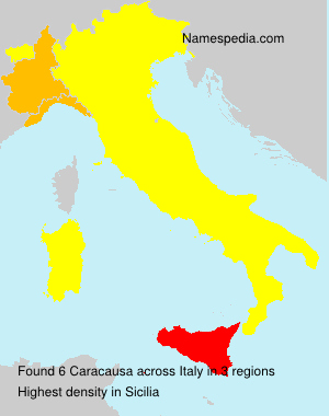 Surname Caracausa in Italy